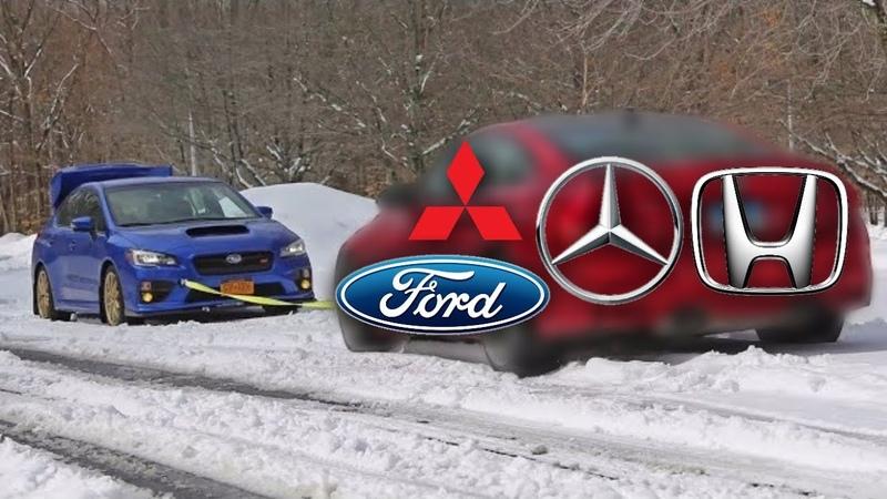 Subaru VS Mercedes-Benz VS Mitsubishi VS Ford VS Honda - Tug of War