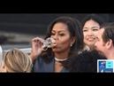 Stößt Michelle Obama auf Notre Dame an ► Luziferische Elite findet sich zum Brandopfer in Paris ein