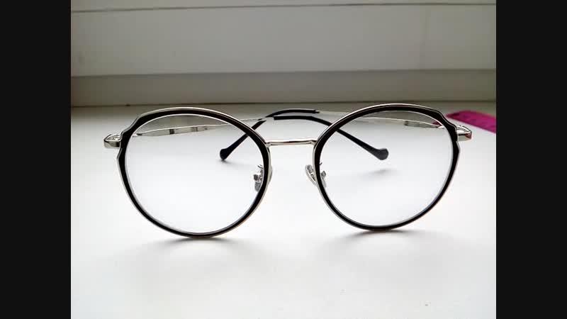 Имиджевые круглые очки, комбинированная оправа Glodiatr, вставка линз по рецепту