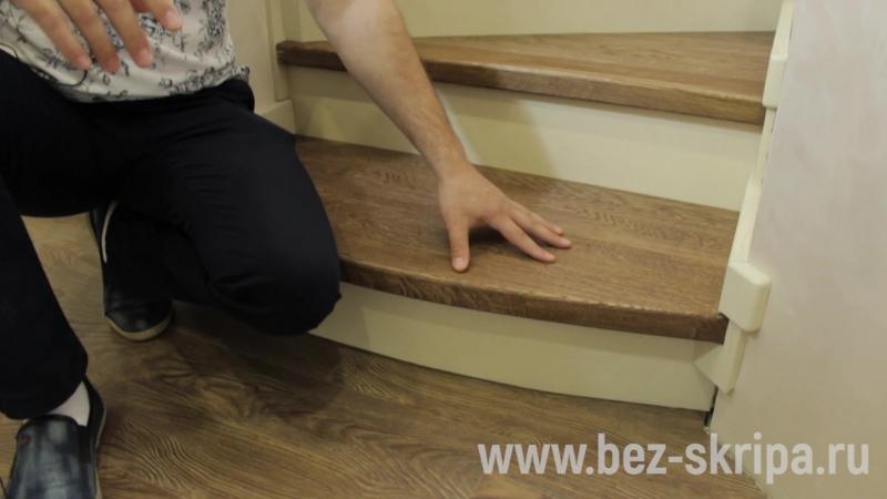 Классическая закрытая лестница на сварном металлокаркасе