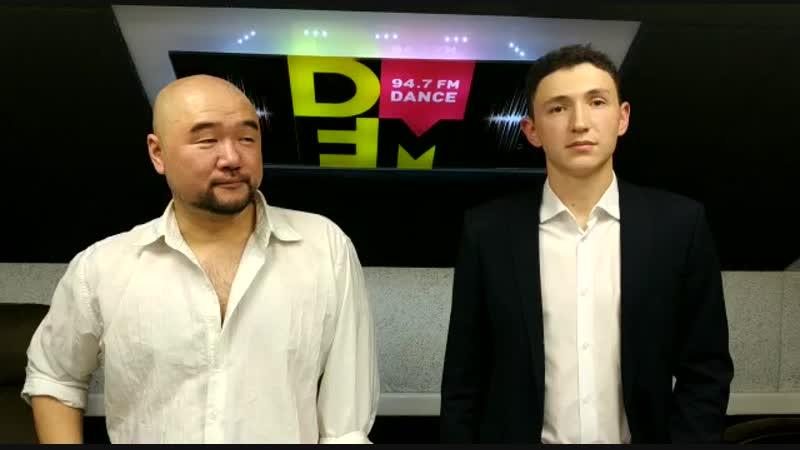 Русско-корейский актер Пак Хёк Су и организатор клуба - ProДвижение - Костя Ларин на Радио DFM