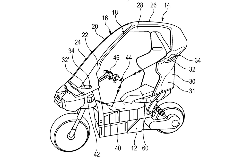BMW разрабатывают электрический скутер C1