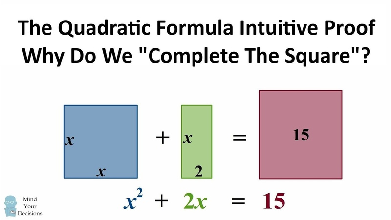 The Quadratic Formula - Why Do We Complete The Square INTUITIVE PROOF