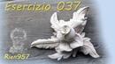 Esercizio 037 - fiore con foglie