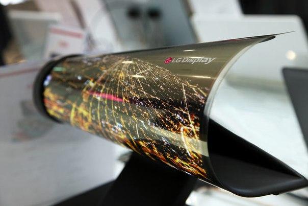 NOnDyy7nkO4 LG привезла на CES 2016 18-дюймовую панель OLED