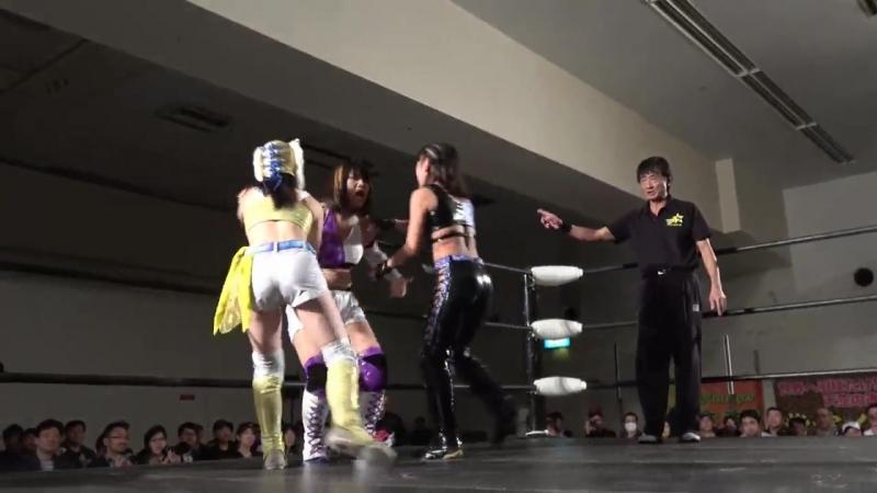 AZM Starlight Kid vs. Natsuko Tora Shiki Shibusawa - Stardom Goddesses Of Stardom Tag League 2017 - Tag 4