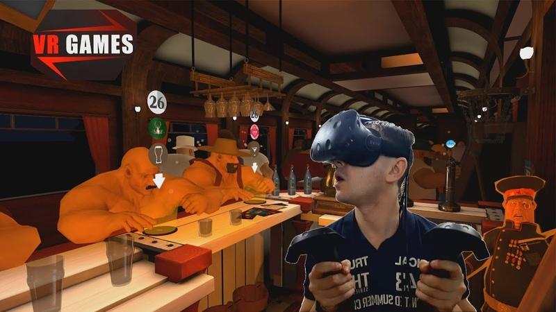 Симулятор бармена Разливаем напитки и коктейли Обзор игры Taphouse VR