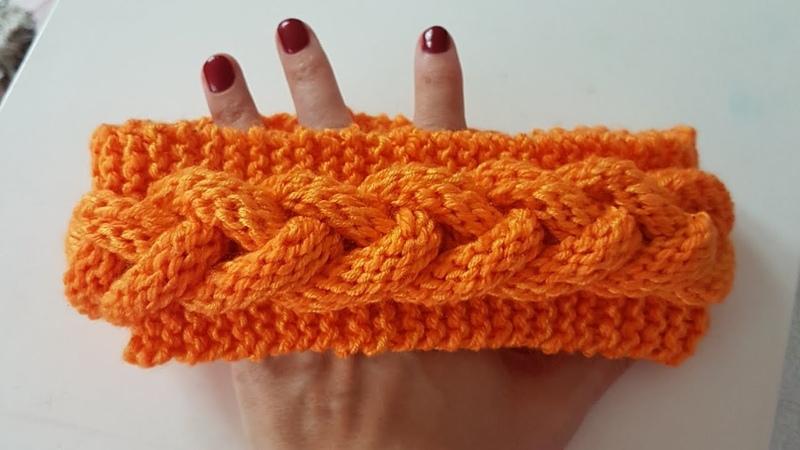 Örgülü Saç Bandı Cable Knitted Headband