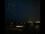 Man films lightning that strikes close away, destroying power line, Italy, Genoa