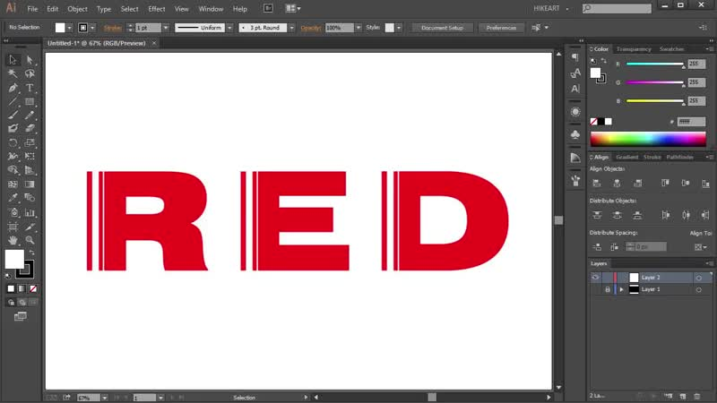 [3][175.30 F 087.65] how to make a vertical cut through text in adobe illustrator