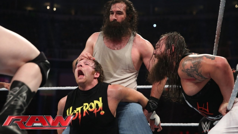Randy Orton, Dean Ambrose and Roman Reigns vs Sheamus, Bray Wyatt and Luke Harper (03.08.15)