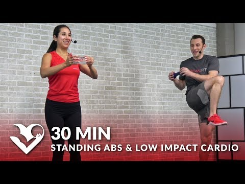 30 Min Standing Abs Low Impact Cardio Workout at Home - 30 Minute Cardio for Beginners Ab Workouts