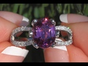 Certified Purplish Pink Unheated Spinel Diamond Cocktail Ring 18k Gold 2.70 TCW - C1062