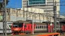 Commuter EMU Train ED9M arrives at Vladivostok/Владивосток. Прибытие пригородного электропоезда ЭД9М