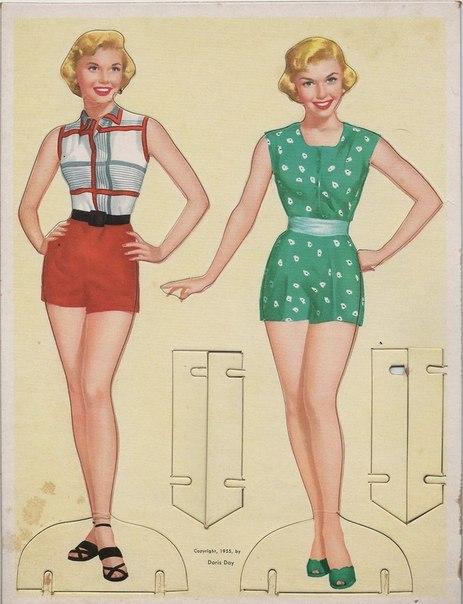 Так выглядели бумажные куклы 50-х годов (7 фото) - картинка