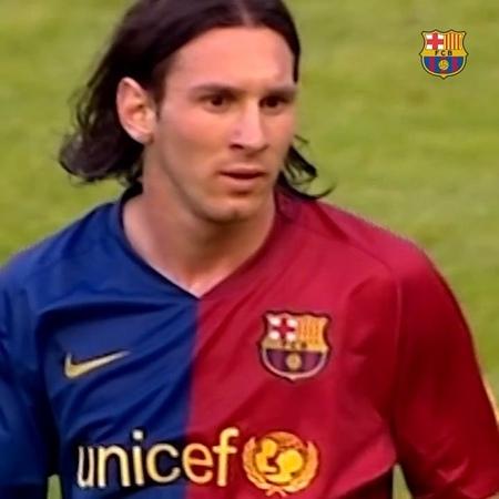 """""""24th July = 🔟 years of Leo Messi as Barças no. 10! 24 de julio = ¡🔟 años de Messi con el dorsal 10! 24 de juliol = 🔟..."""
