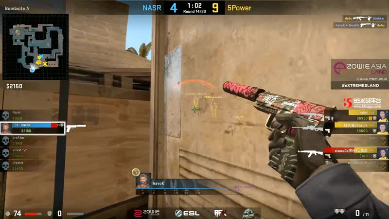 NASR havoK goes beast by killing four guys using only usp-s