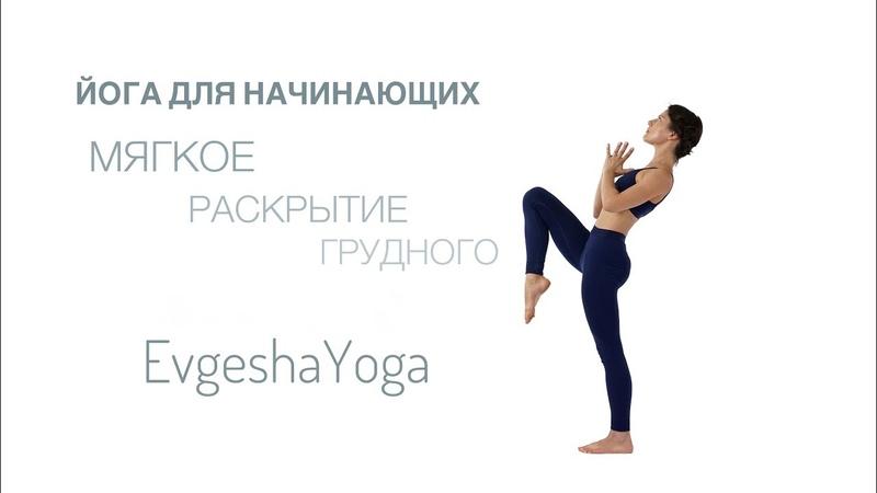 Йога для начинающих. Практика Флоу на раскрытие грудного