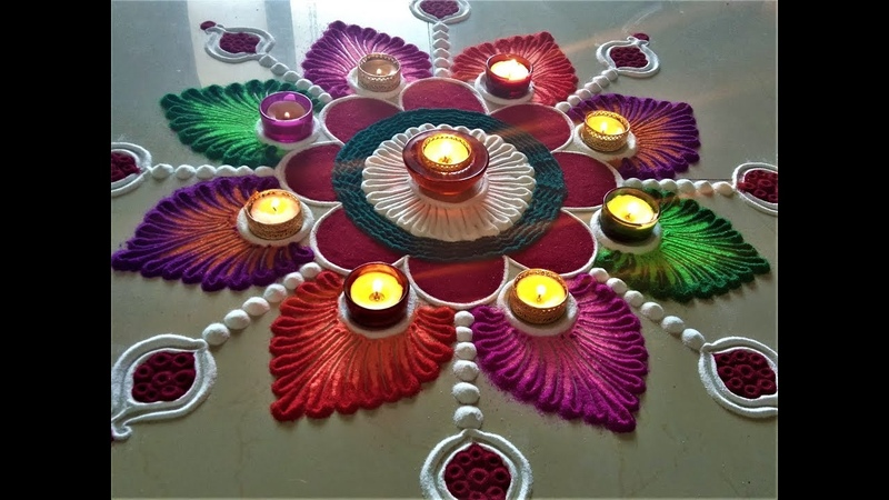 Very Attractive and Creative Rangoli for Deepawali|Easy Rangoli by Shital Mahajan.