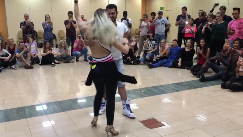 Enah Carolina dancing Kizomba and Zouk Fusion at 14th El Sol Salsa Festival (Warsaw)