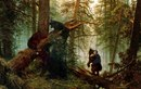 """0.  """"Утро в сосновом лесу """" Холст.  Масло."""
