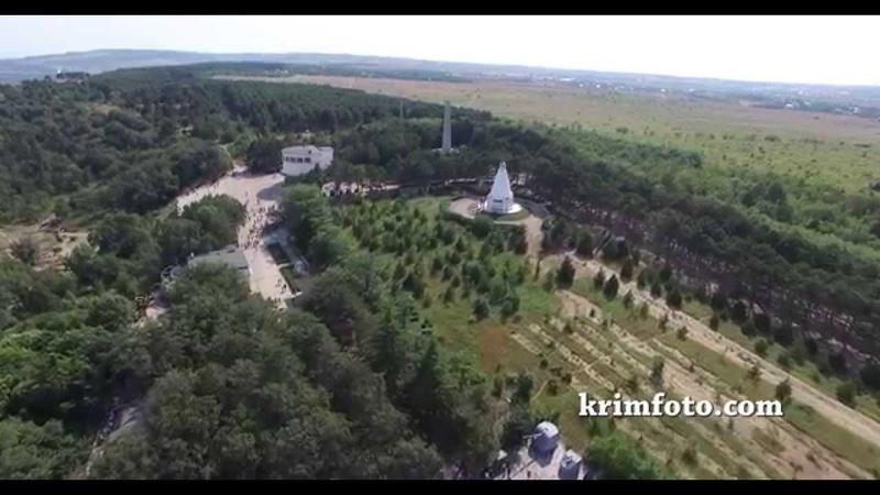 Сапун гора Севастополь Крым с высоты птичьего полета