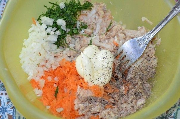 Закуска из рыбных консервов Ингредиенты: -1 банка любых рыбных