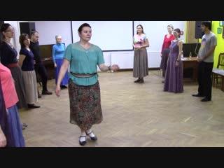 Открытая школа народного танца. Группа новичков. Урок 1.2. Импровизация на простом и переменном ходах.