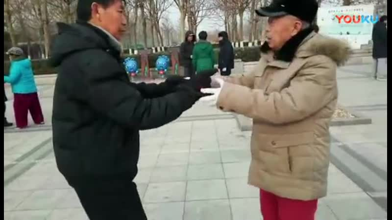 太极拳不用力如何放人-_这位老爷子说得明白