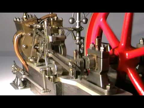 Motore a vapore con distribuzione Walschaert.