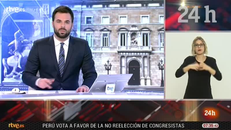 Telediario matinal TVE 24h L-10-12-18 Ayuno Torra, Andalucia, Lastra, pacto migratorio vlc-record-2018-12-10-07h36m18s