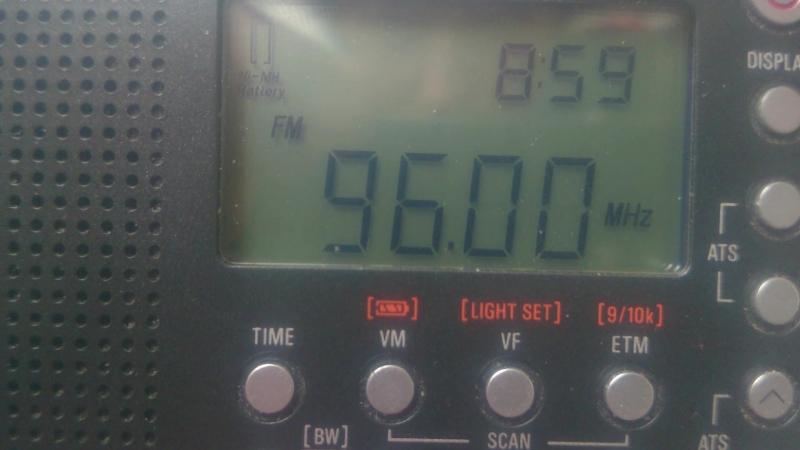 96.0 YLE 3 RADIO SUOMI(Tammela)~336km