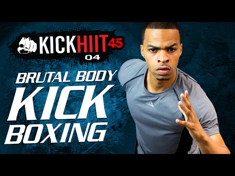 45 Min. Brutal Body Kickboxing HIIT Workout | Kick HIIT 45 Day 04