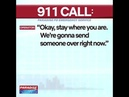 911 man calls police, he think somebody broke in his house paradise pd emergency service