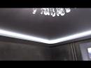 Двухуровневый натяжной потолок с подсветкой от компании Репа