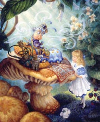 Алиса в стране чудес. Вышивка