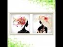 Видео алмазная вышивка - мозаика девушка в шляпе