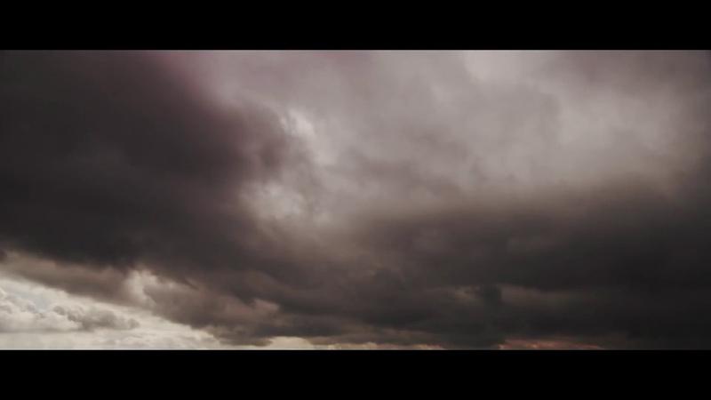 Футаж облака серое небо
