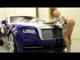 2014 Rolls-Royce Wraith - Matte Silver Wrap - TVPauto - Kina Tavarozi - hot blonde model