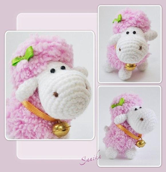 Плюшевая овечка - маленькая