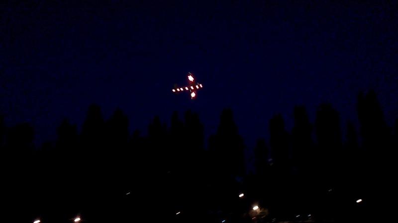 Светодиодная подсветка на авиамодели