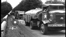 U.S. Army Red Ball Convoy passes through village of Courville sur eure, Stock Footage