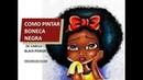 Como pintar boneca negra de cabelo black power pintura em tecido