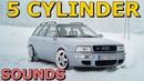 BRUTAL Audi 5-Cylinder Engine Sounds - Anti-lag/Launch