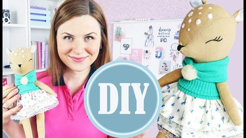 DIY Интерьерная кукла Олененок из ткани своими руками!