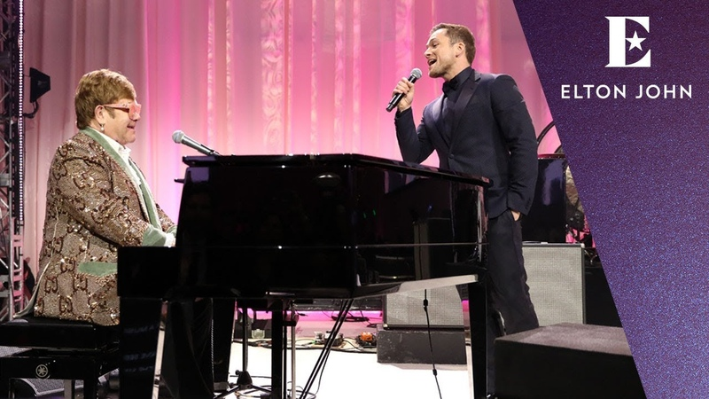 Elton John Taron Egerton - 'Tiny Dancer' (Elton John AIDS Foundation Academy Awards Viewing Party)