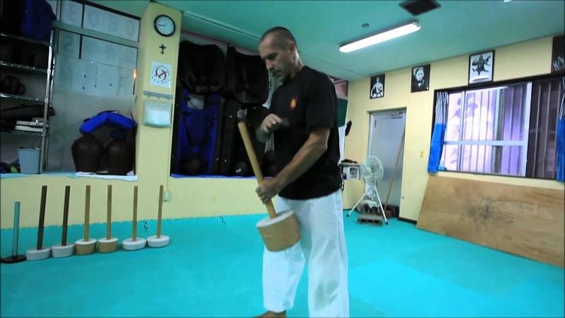 Chishi training and nunchaku connection. Okinawa Ryuibukan Association