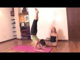 Ashtanga Yoga: Jumping Back from Feathered Peacock Pose or Pincha Mayurasana  | vk.com/yogadn