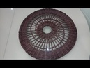 Часть 3. Плетение ажурной крышки для корзины из бумажных трубочек