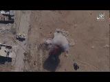 Беспилотник исламского государства уничтожил хаммер сбросив на него гранату